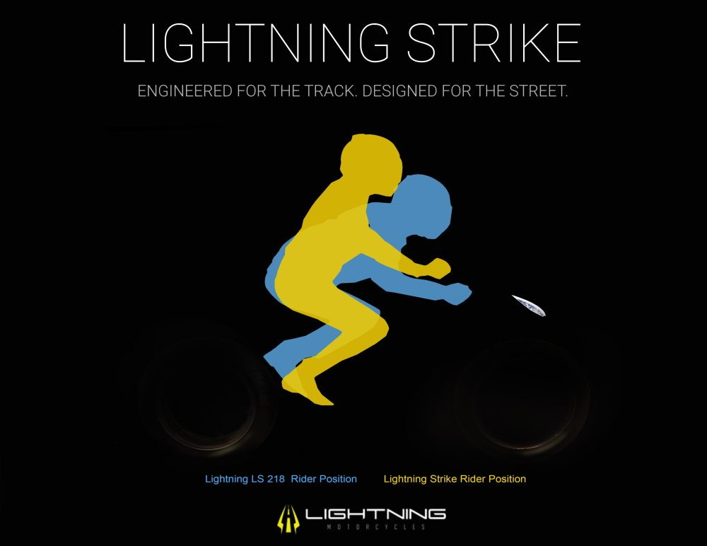 Lightning Strike rider position electric motorcycle