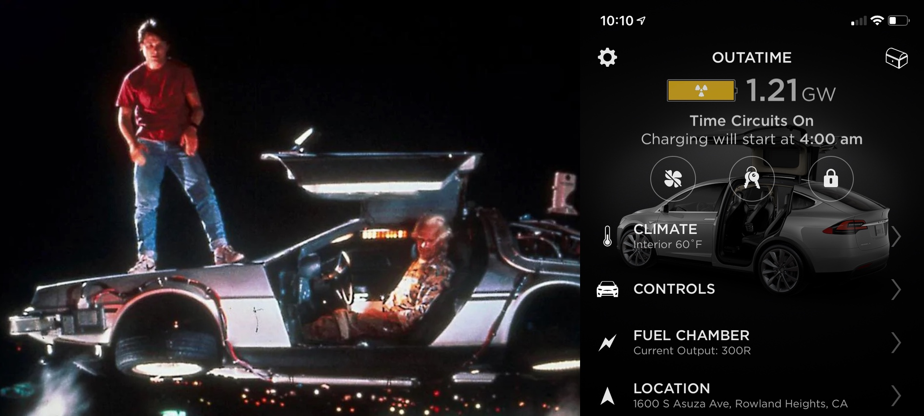 Tesla hides extensive 'Back to the Future' Easter egg in latest software