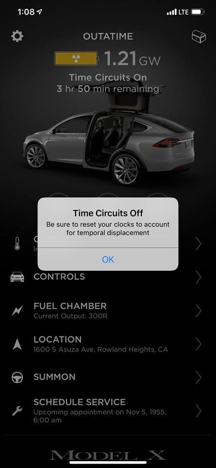 Tesla hides extensive 'Back to the Future' Easter egg in