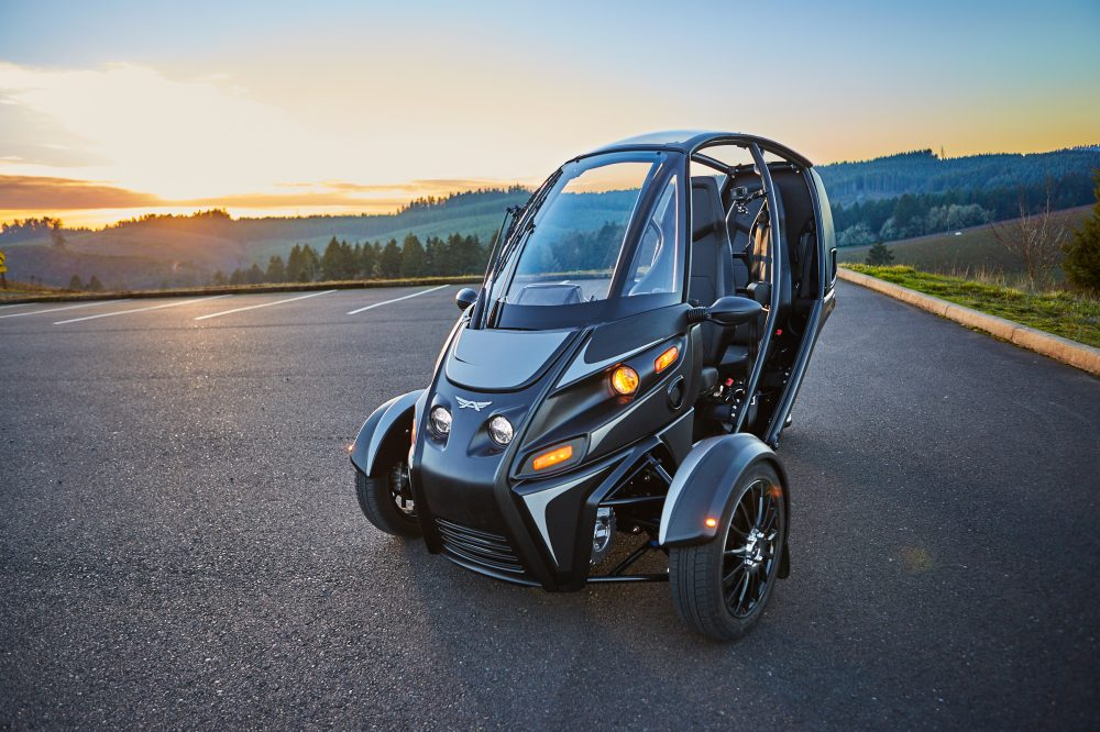 black arcimoto FUV evergreen edition