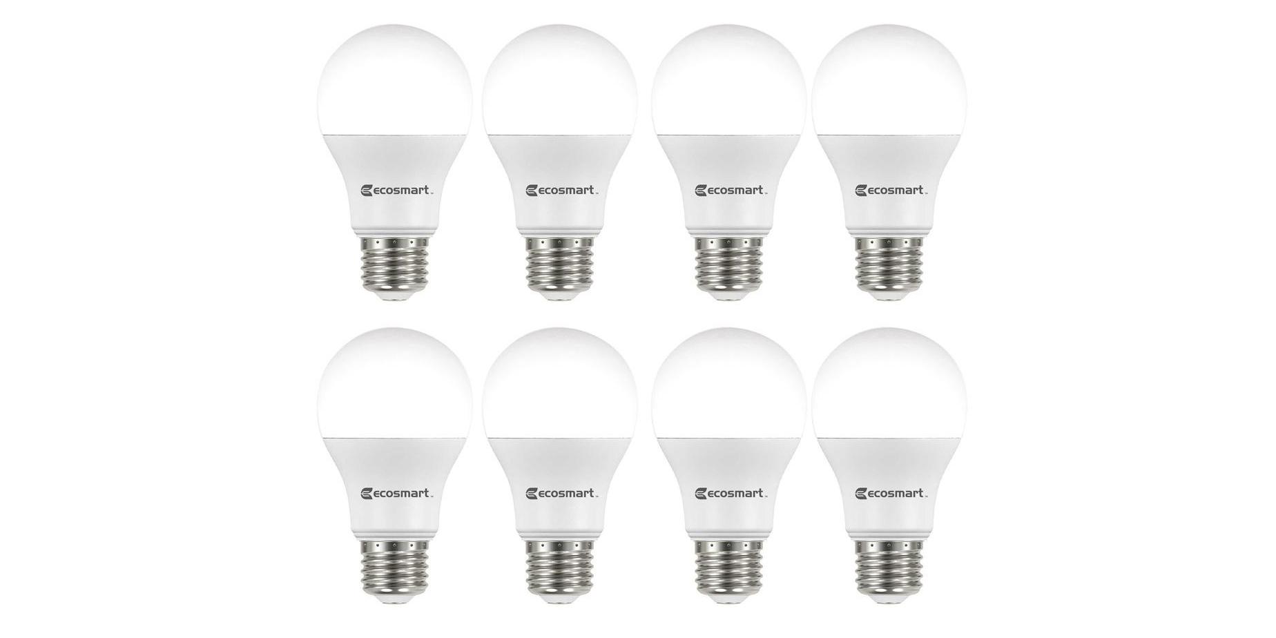 Green Deals 8 Pack Ecosmart Led Light Bulbs 10 More