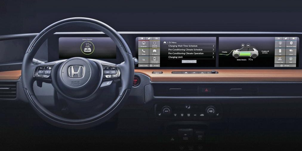 Honda reveals first interior image of new all-electric ...