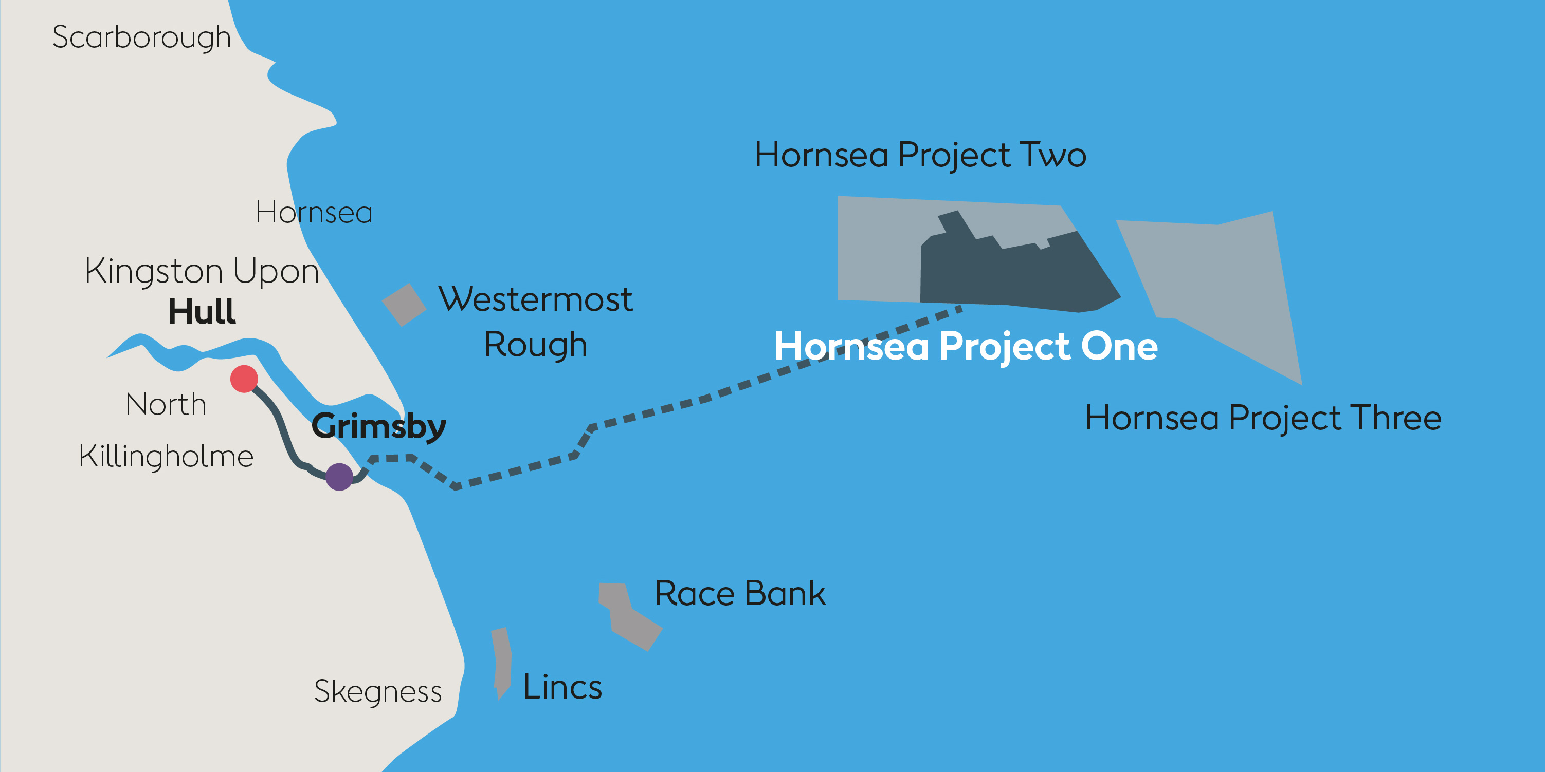 Hornsea One Project Map