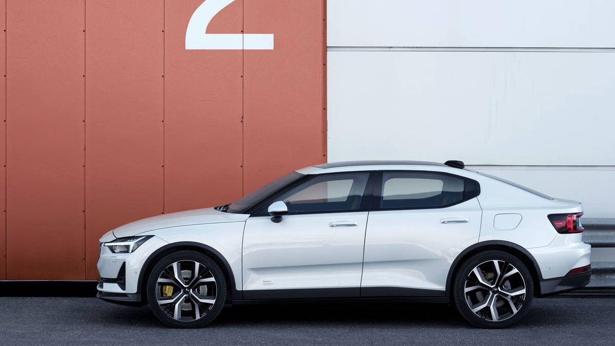 This Week Several Images Of The Polestar 2 Leaked Revealing Full Design Vehicle Before Unveiling