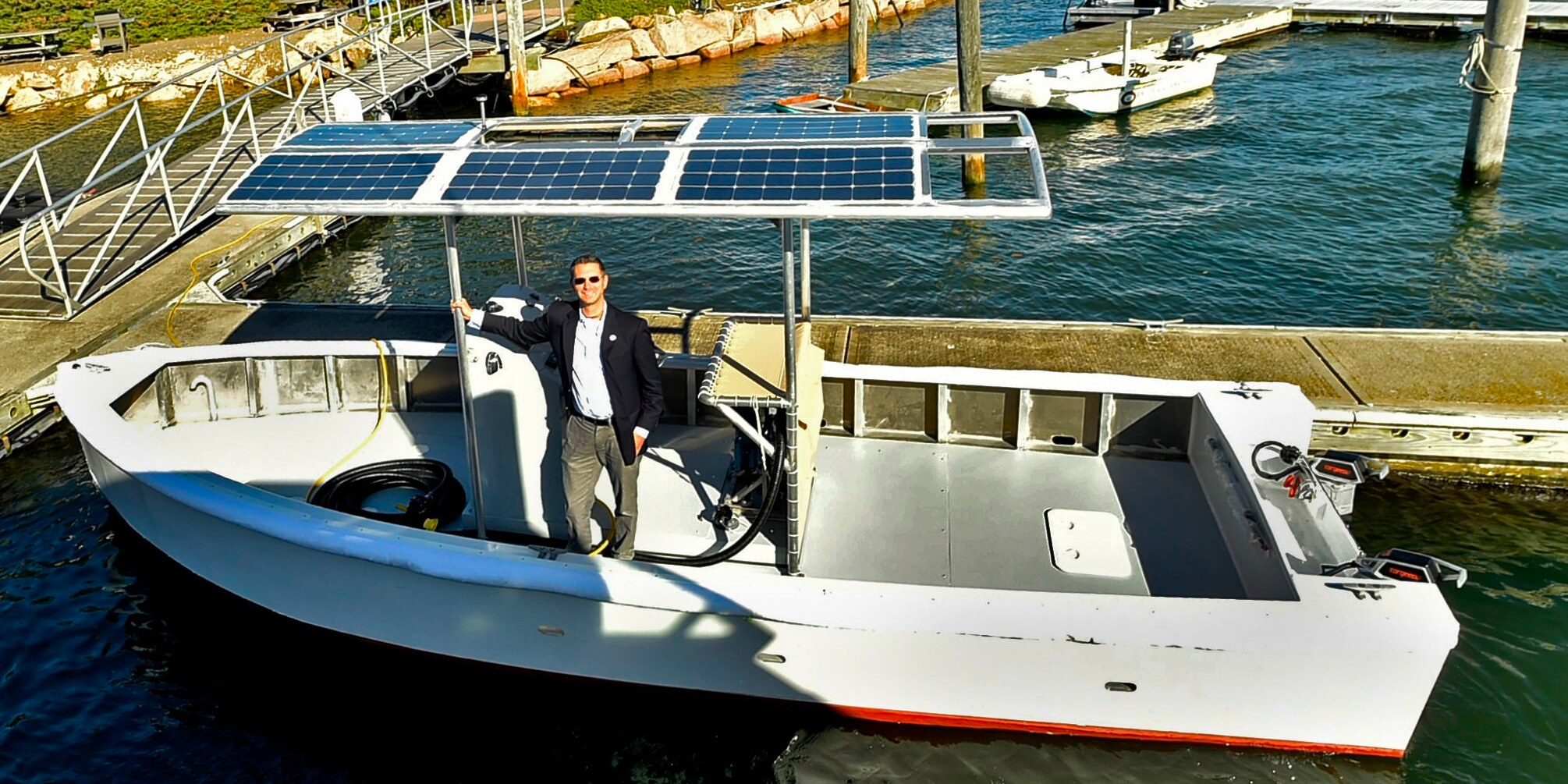 Yale's solar-powered electric boat is taking a lot of crap… literally!