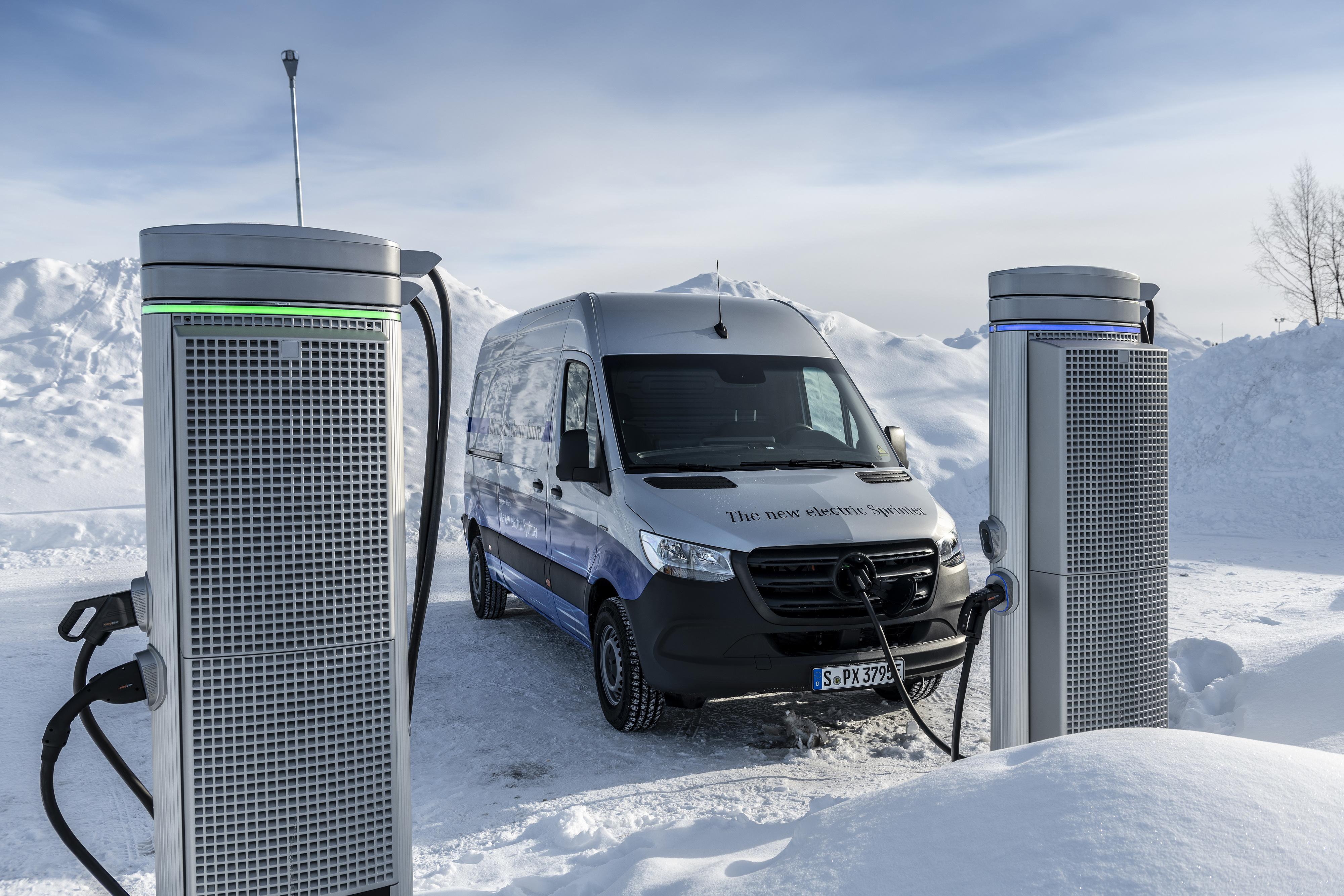 Mercedes-Benz releases electric eSprinter van specs, goes