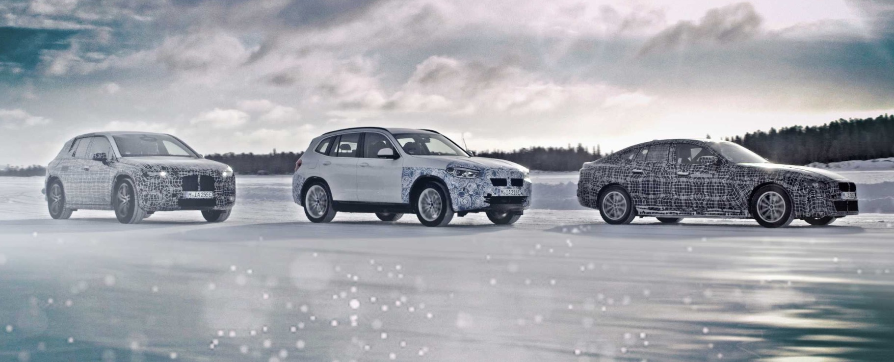 BMW reveals latest iX3, i4, and iNext electric vehicle prototypes in winter testing