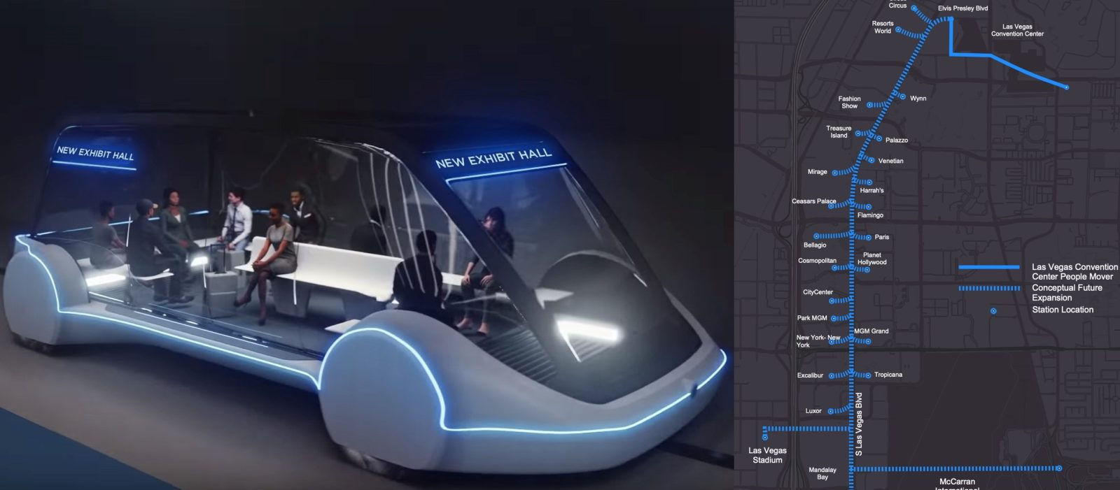 62aca0d589f Elon Musk s Boring Company is announcing today a new proposed  Loop  system  of tunnels for approval in Las Vegas.