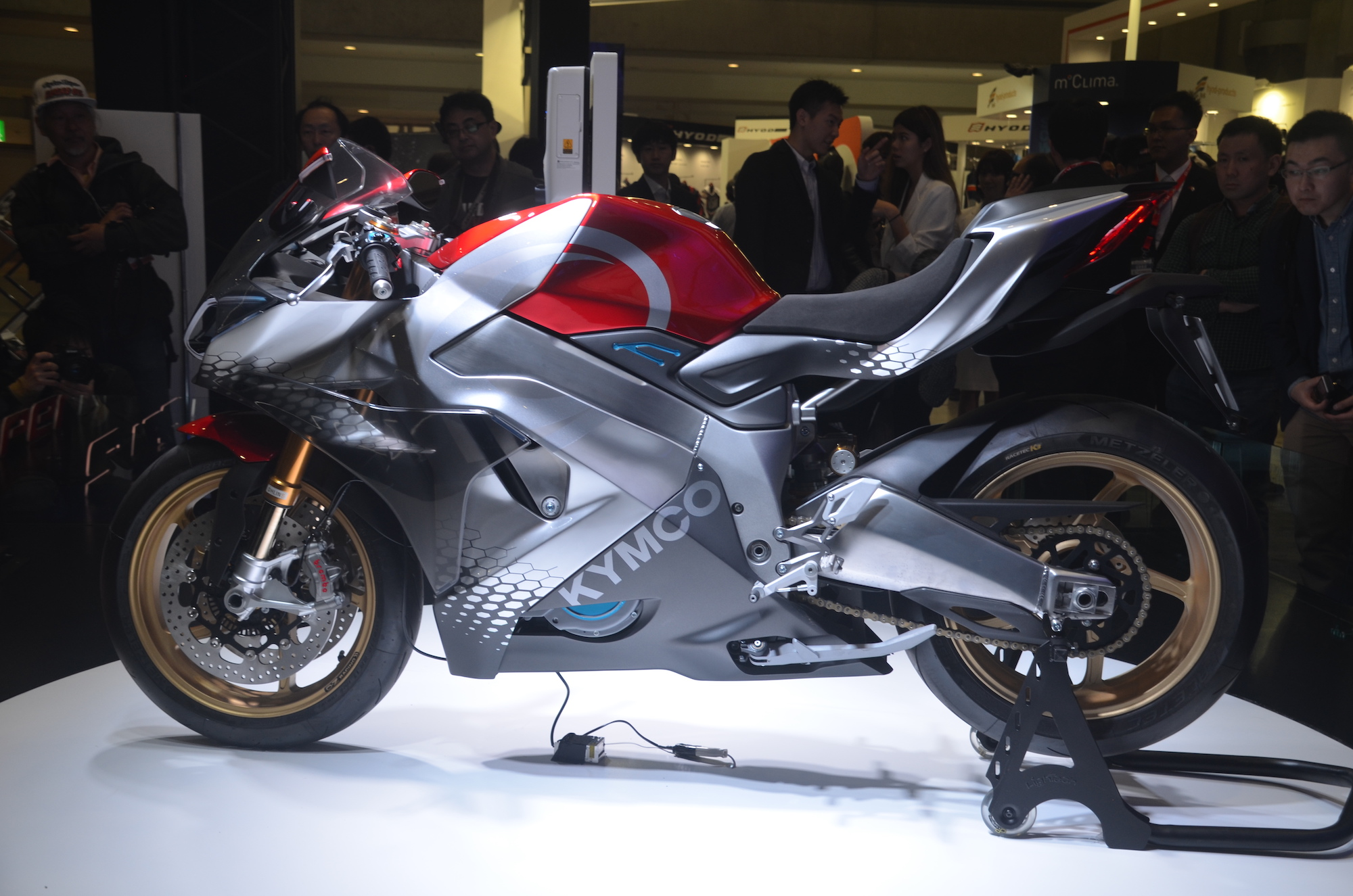 Electric Sports Bike >> Kymco Shows Off Supernex Electric Sport Bike Alongside