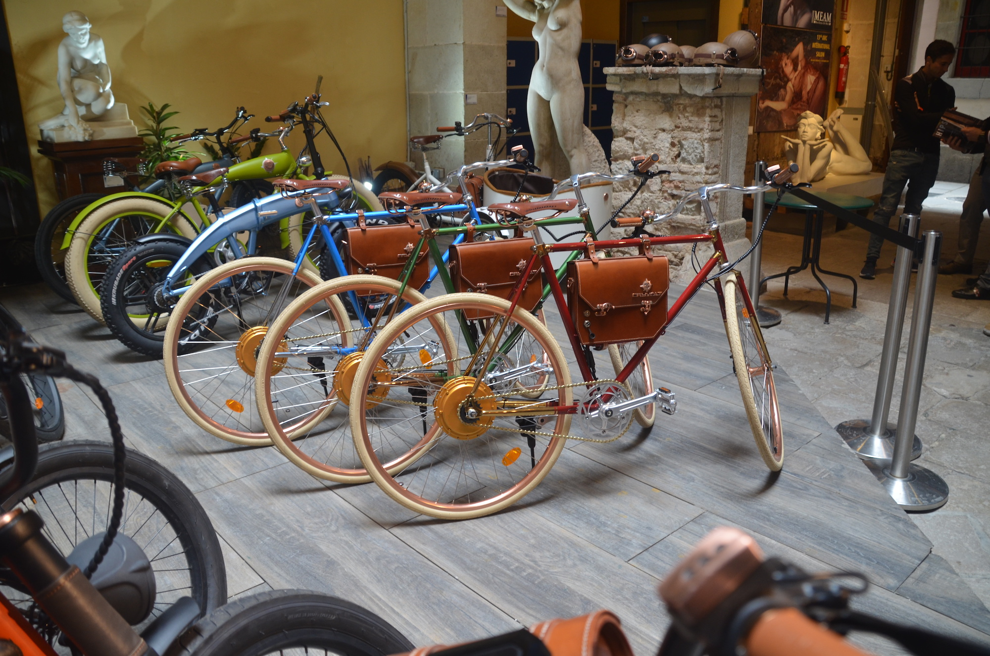 Rayvolt shows off beautiful line of steampunk electric bicycles, debuts e-motorcycle prototype