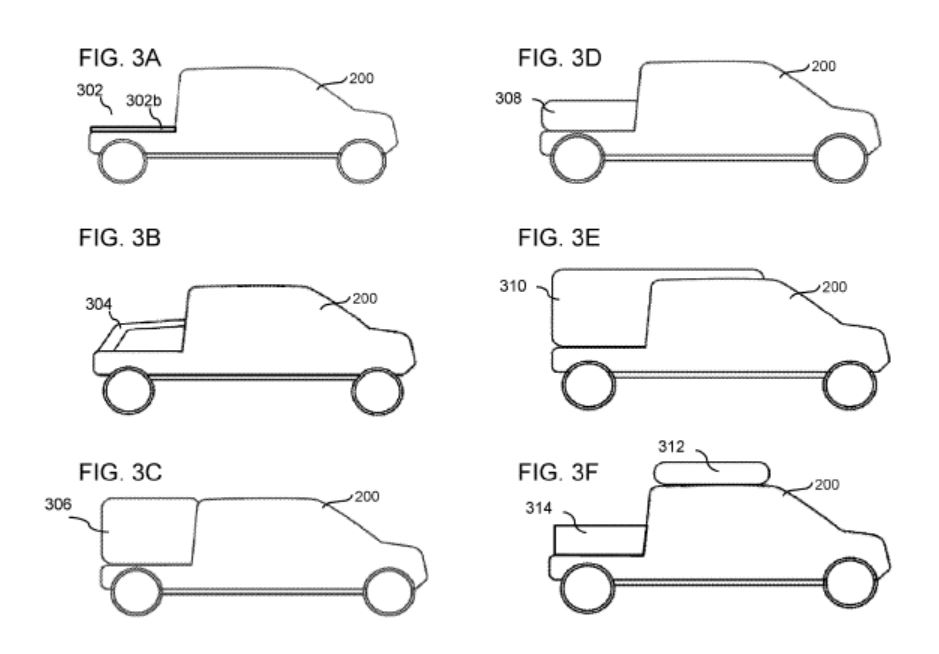 Rivian patents modular box system for its R1T electric pickup truck
