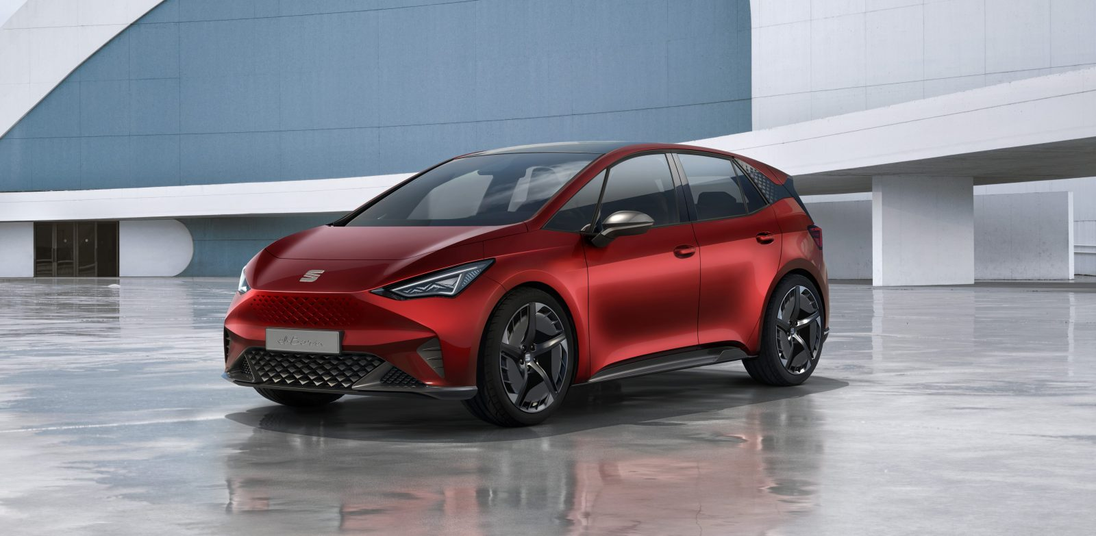 Vw S Seat Unveils Sleek New All Electric Hatchback With 260 Miles Of Range