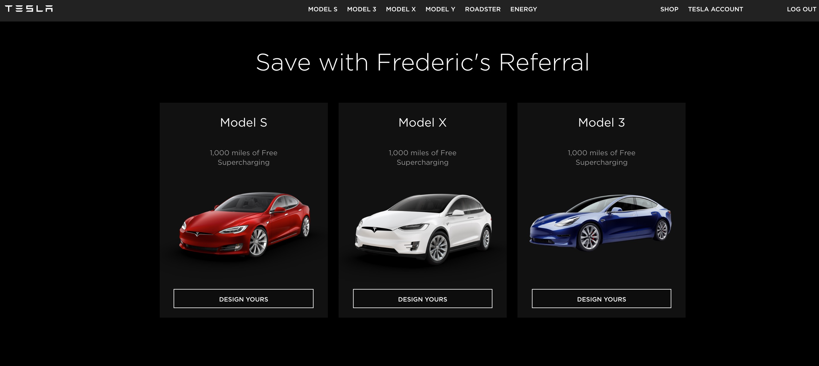 Tesla Referral Program [19659010] Tesla Referral Program