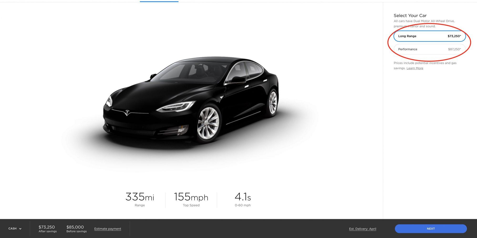 Tesla drops 'standard range' Model S from lineup after just 3 weeks