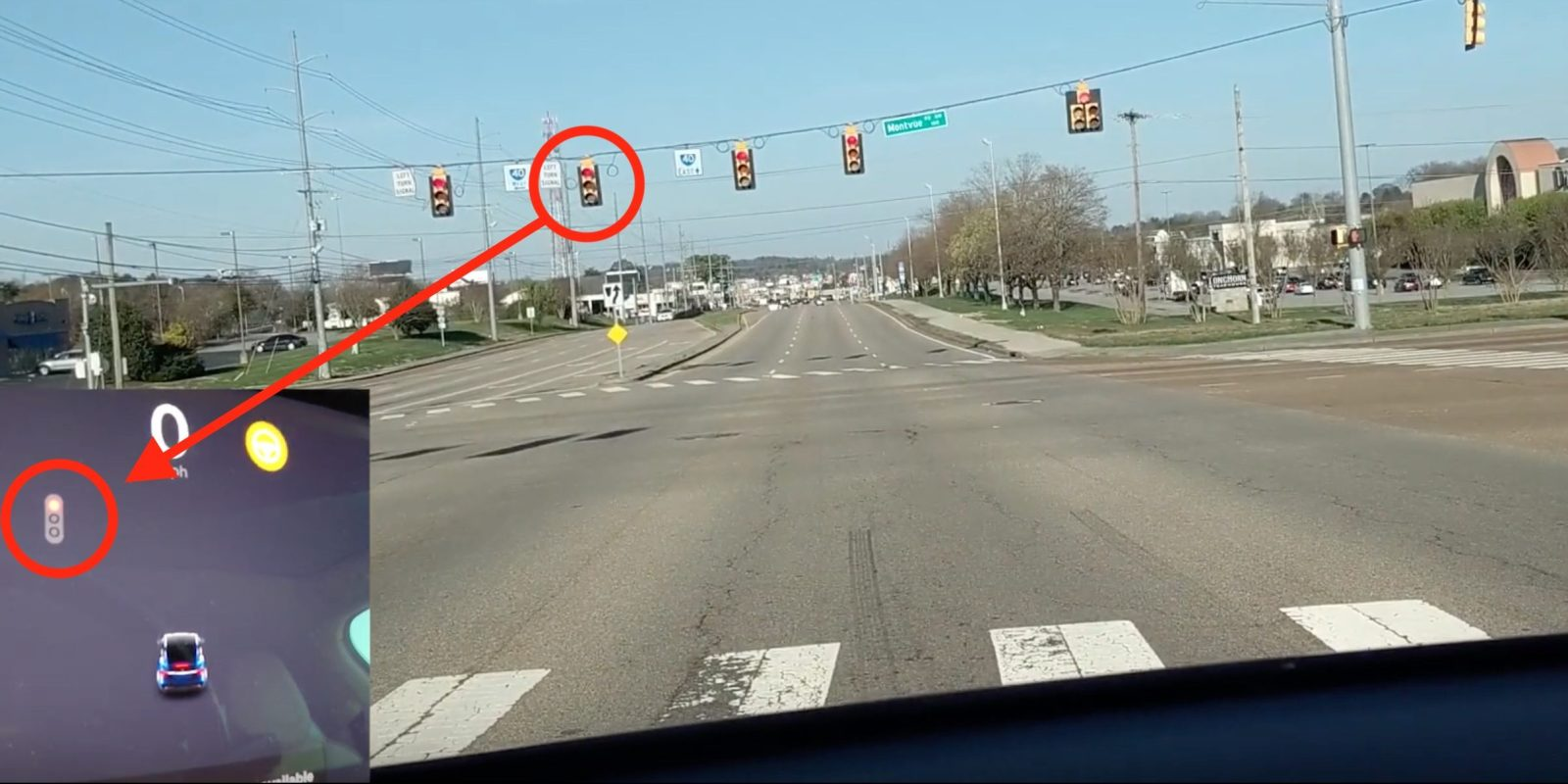 Watch Tesla Autopilot stopping at red light on its own for