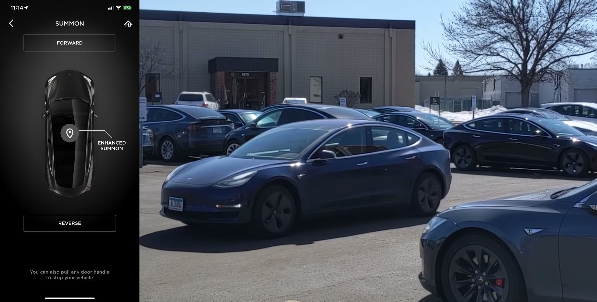 Watch first demonstration of Tesla's Enhanced Summon