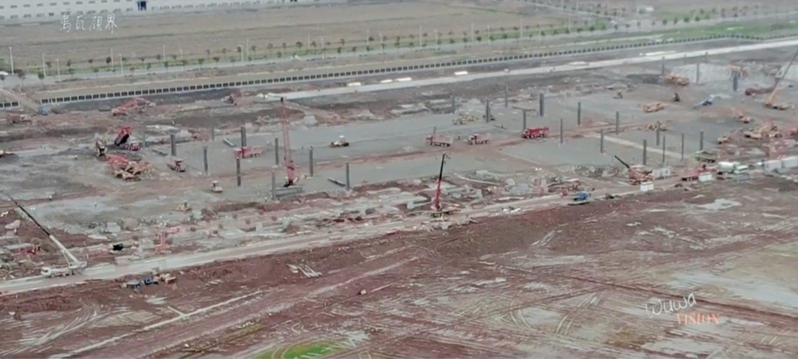 Tesla Gigafactory 3 Drone update: starting to look like something