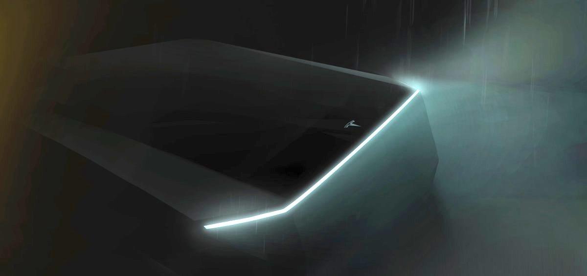 Elon Musk releases teaser image of Tesla's 'cyberpunk' electric pickup truck