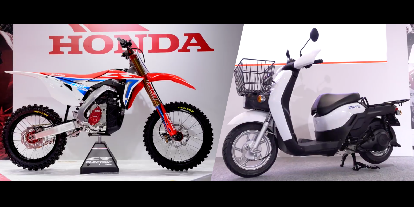 Honda unveils electric version of CRF450 dirt bike & new electric scooter