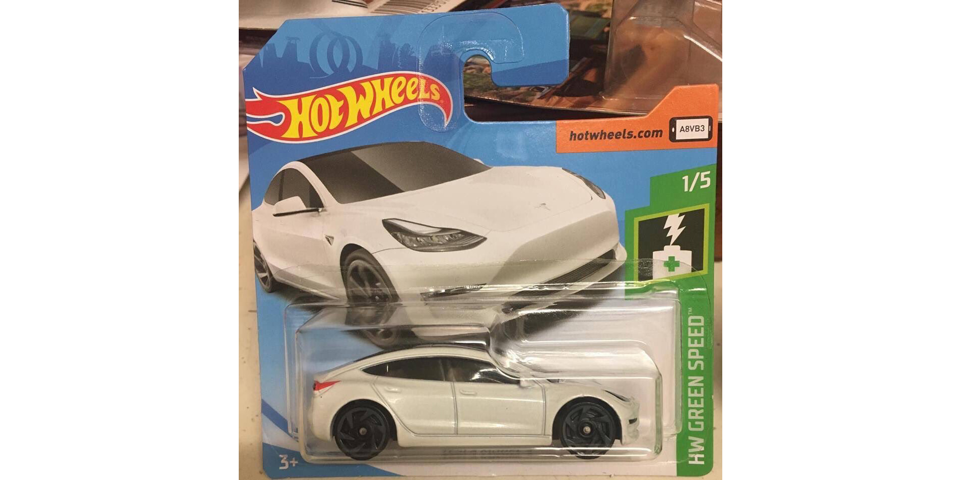 Tesla Model 3 in stores — toy stores, as new Hot Wheels release