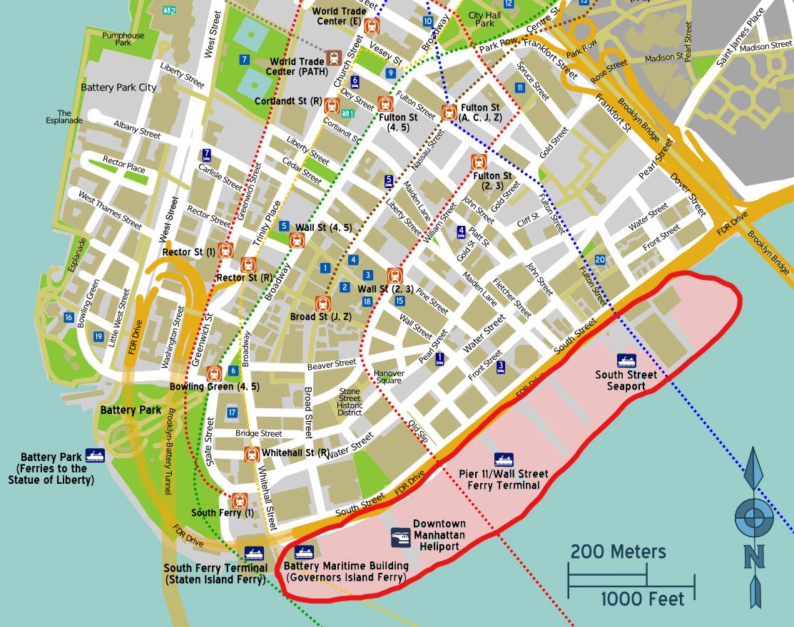lower Manhattan map