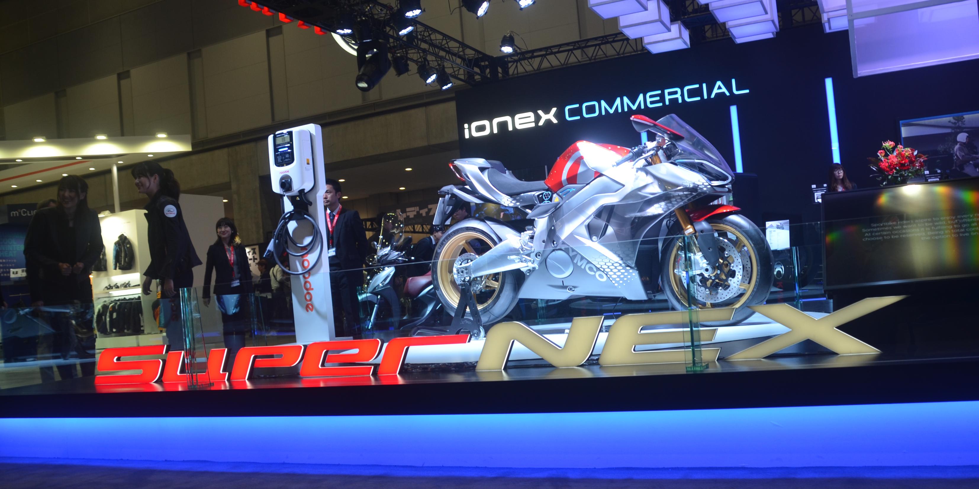 Kymco Shows Off Supernex Electric Sport Bike Alongside Noodoe Charging Partnership