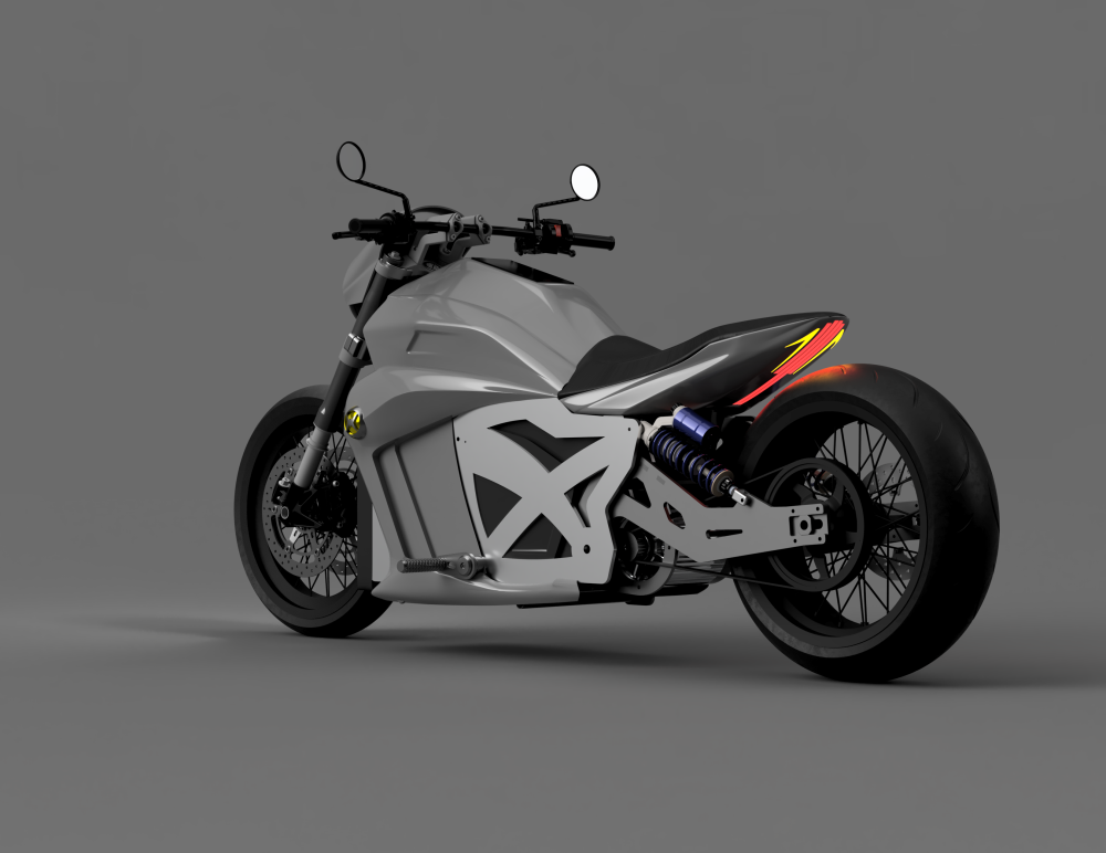 evoke 6061 electric motorcycle cruiser