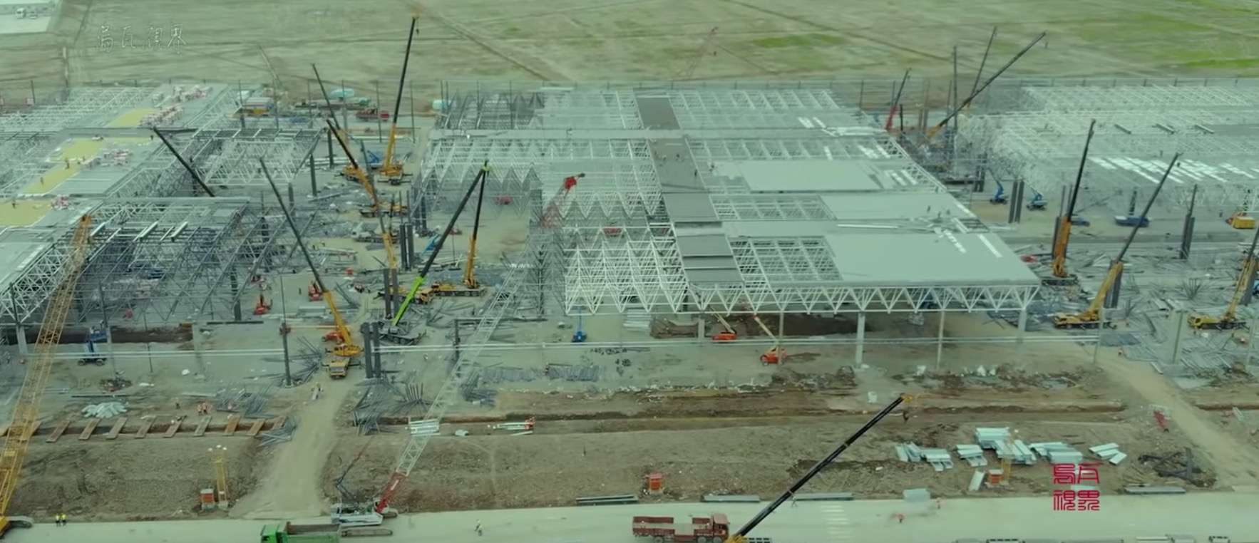 Tesla Gigafactory 3 video update: structure is growing at breakneck pace