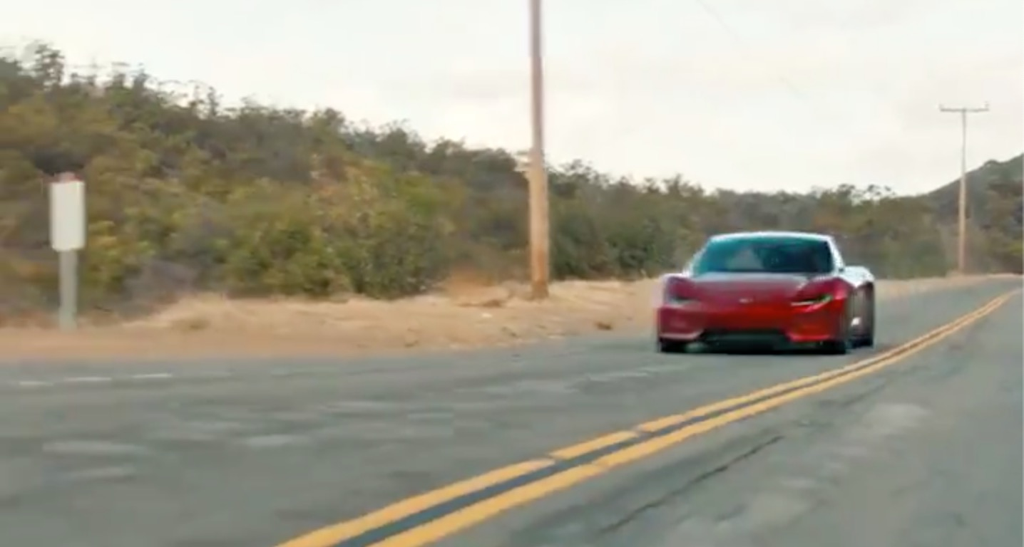 Tesla Releases New Roadster Insane Acceleration Video
