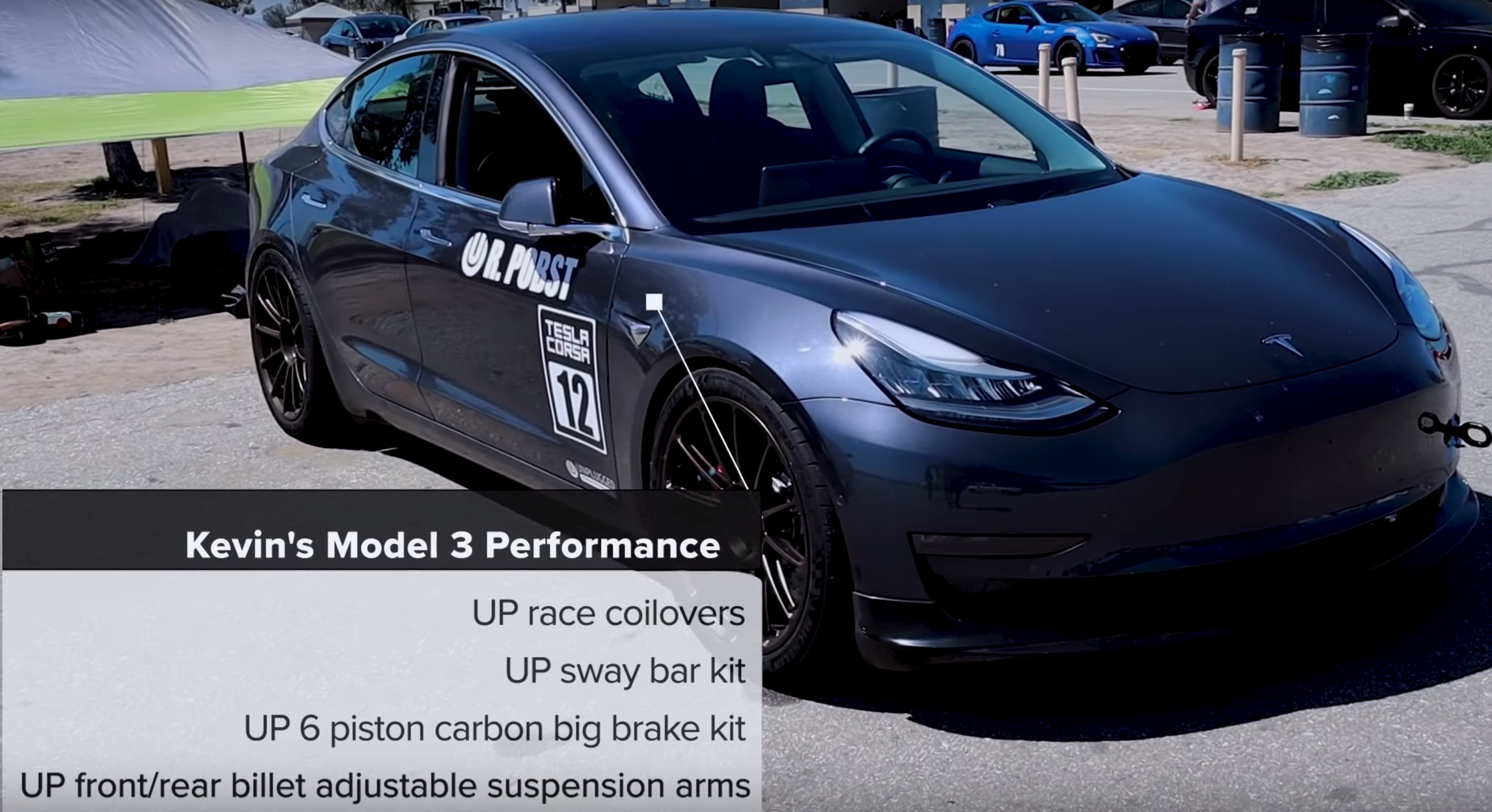 Tesla Model 3 Performance Vehicles With Upgrades Tested By Pro