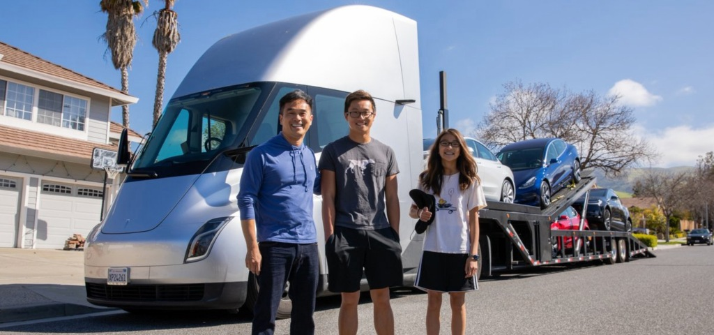 Best Car For Uber >> Watch Tesla use its electric semi prototype to deliver a ...
