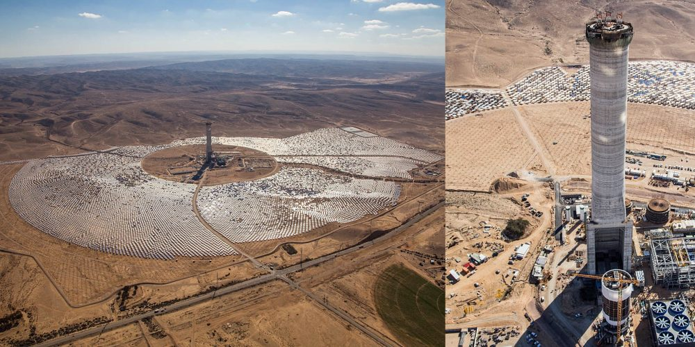 largest solar tower Israel