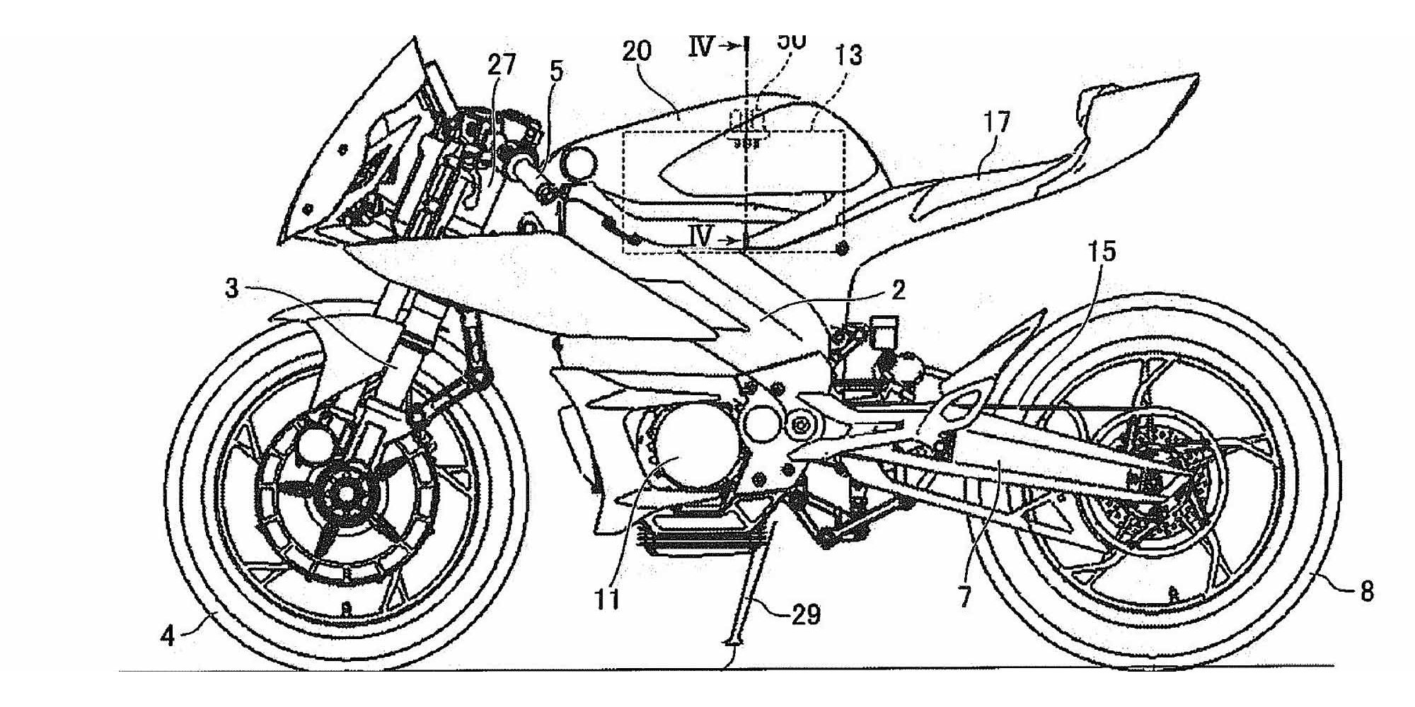New Yamaha electric motorcycle patents show electric R1 superbike and electric MT-07