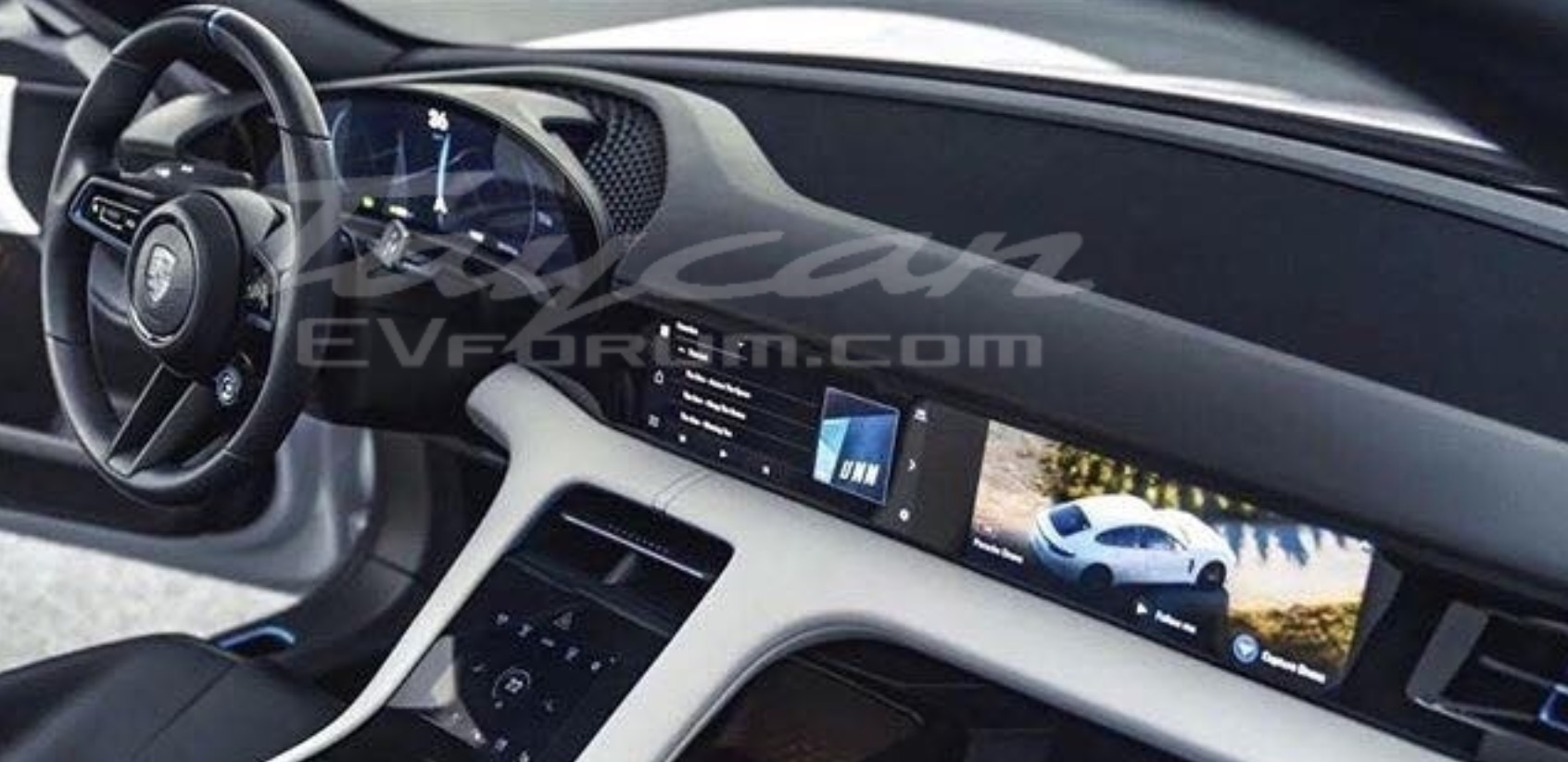 Porsche Taycan interior revealed in leaked images
