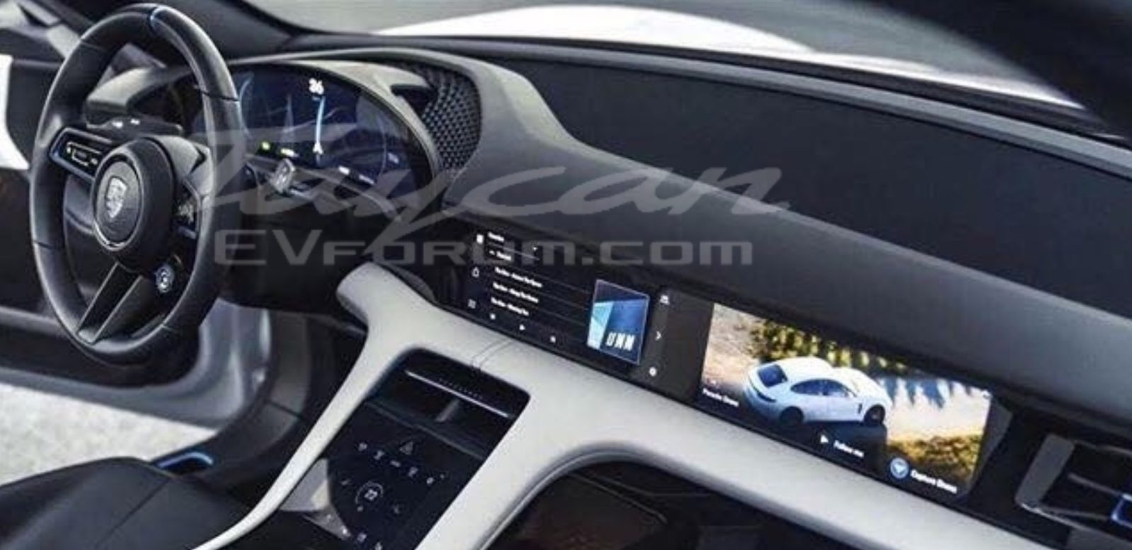 Porsche Taycan Interior Revealed In Leaked Images Electrek