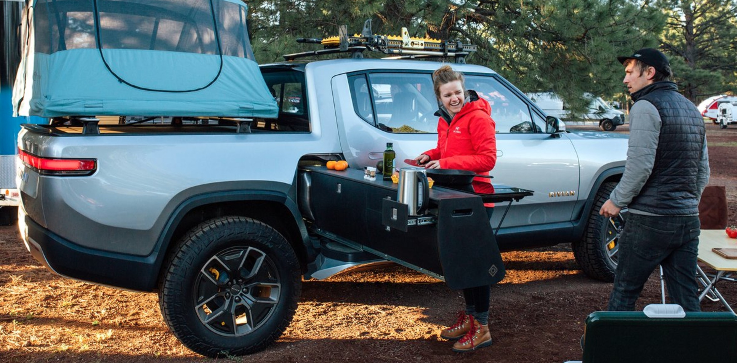 Rivian unveils camper version of its R1T electric pickup truck with incredible features