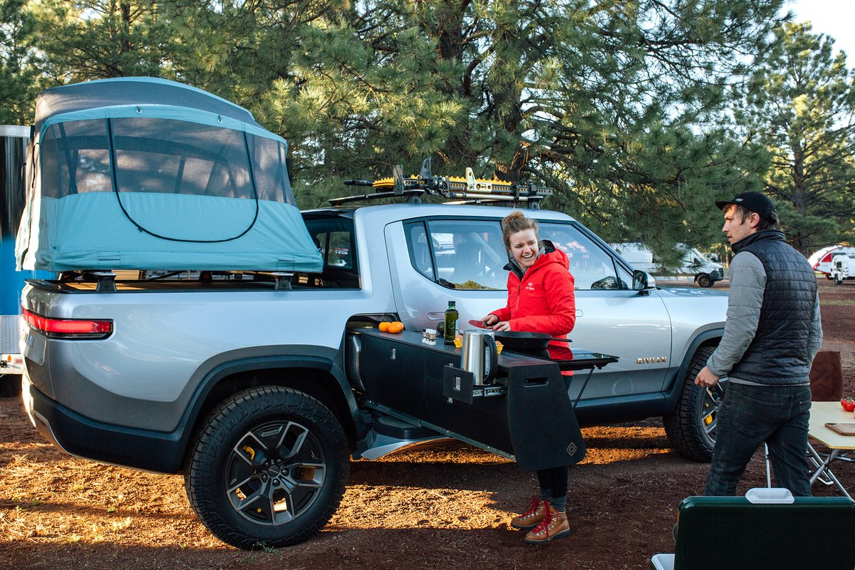 Rivian Unveils Camper Version Of Its R1t Electric Pickup Truck With Incredible Features Electrek