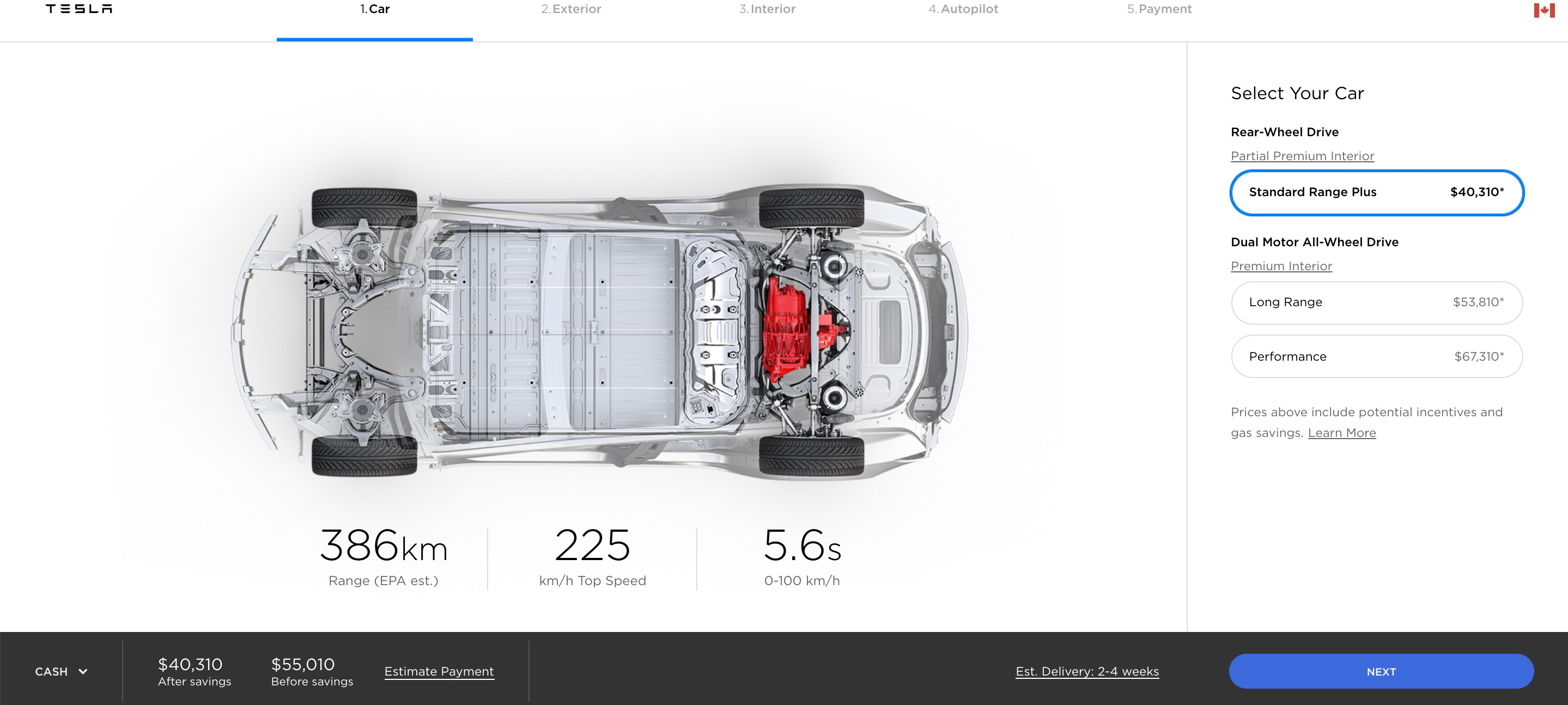 Tesla launches cheaper Model 3 with 150km range in Canada ...