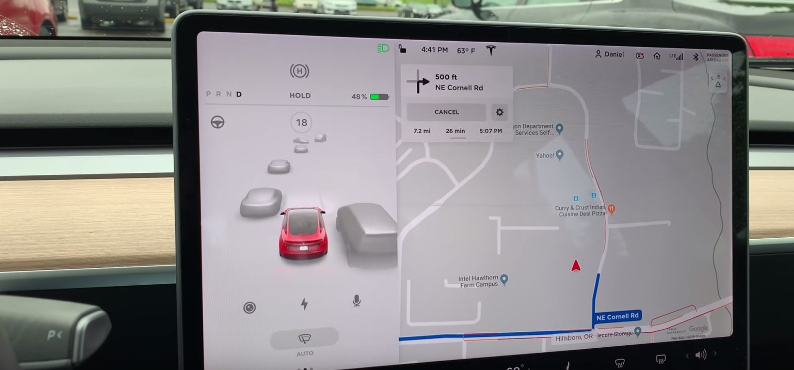 First look at Tesla\'s new in-car driving visualization ...