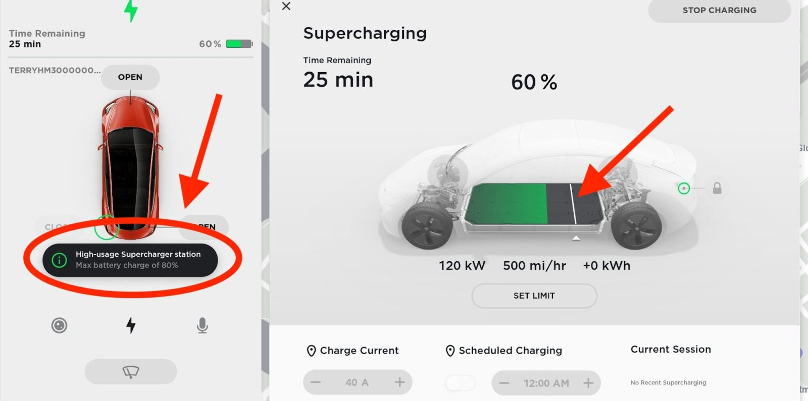 Tesla offers way to override new charge limitation at busy