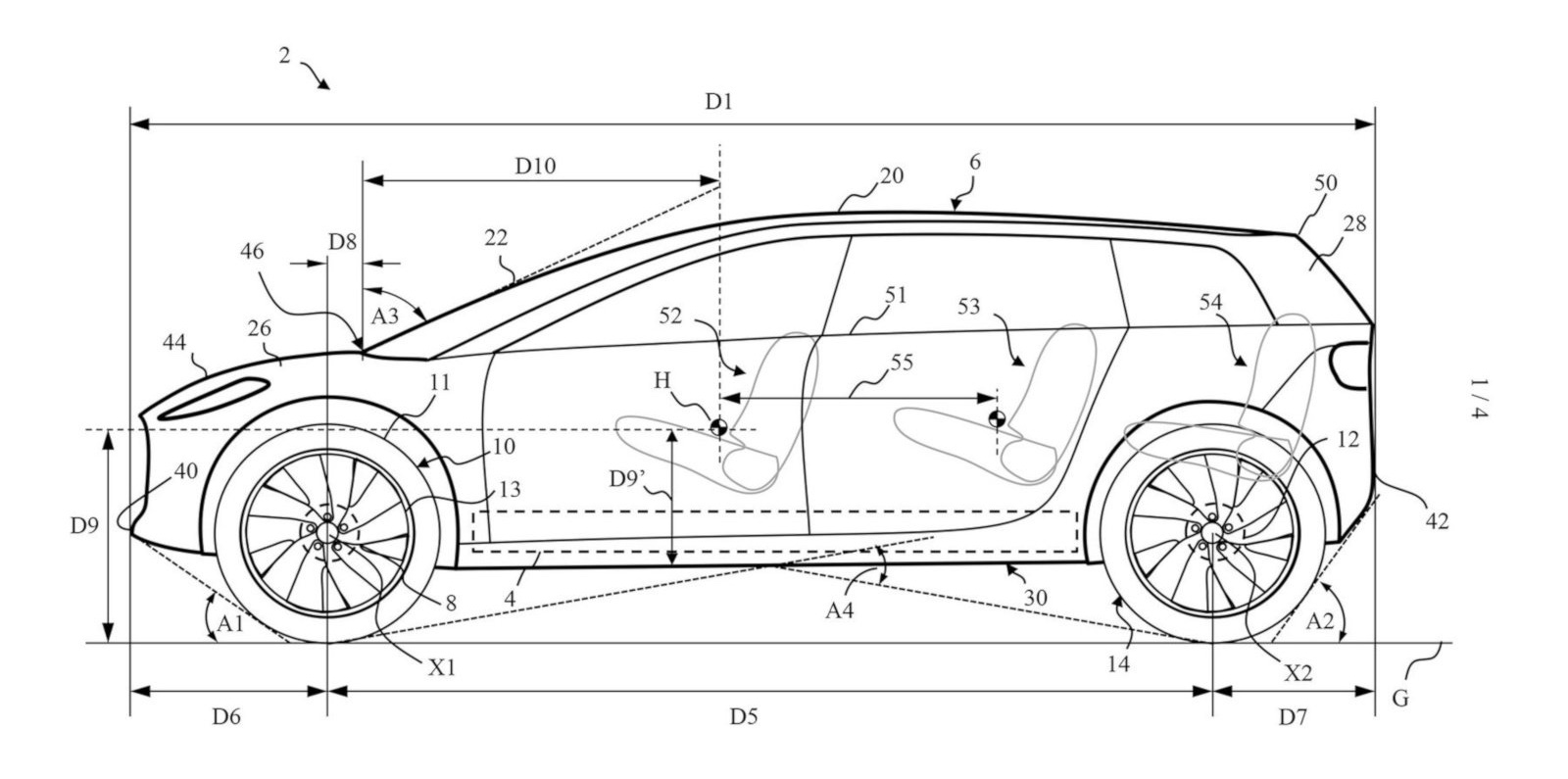 Dyson Electric Car Patents Reveal Possibilities Of Large Wheels 3rd Row Seating