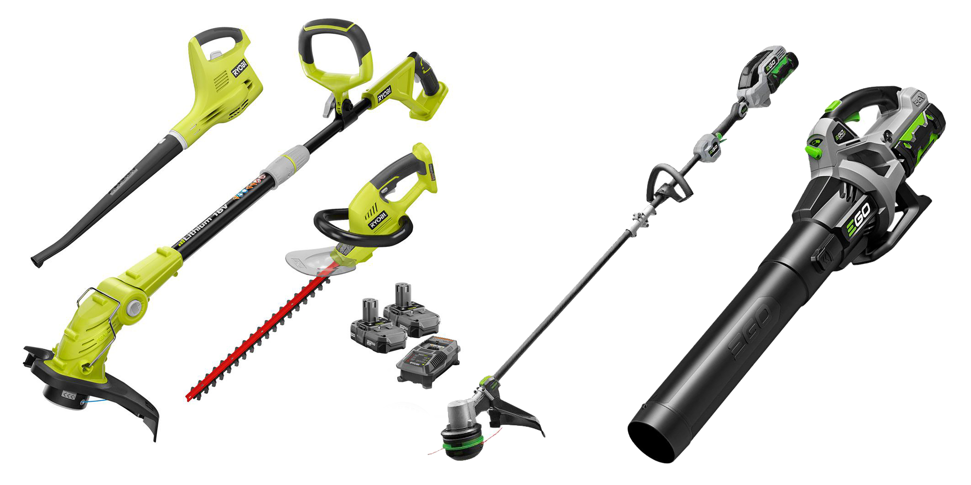 Save on EGO and Ryobi electric outdoor tools in today's best Green Deals