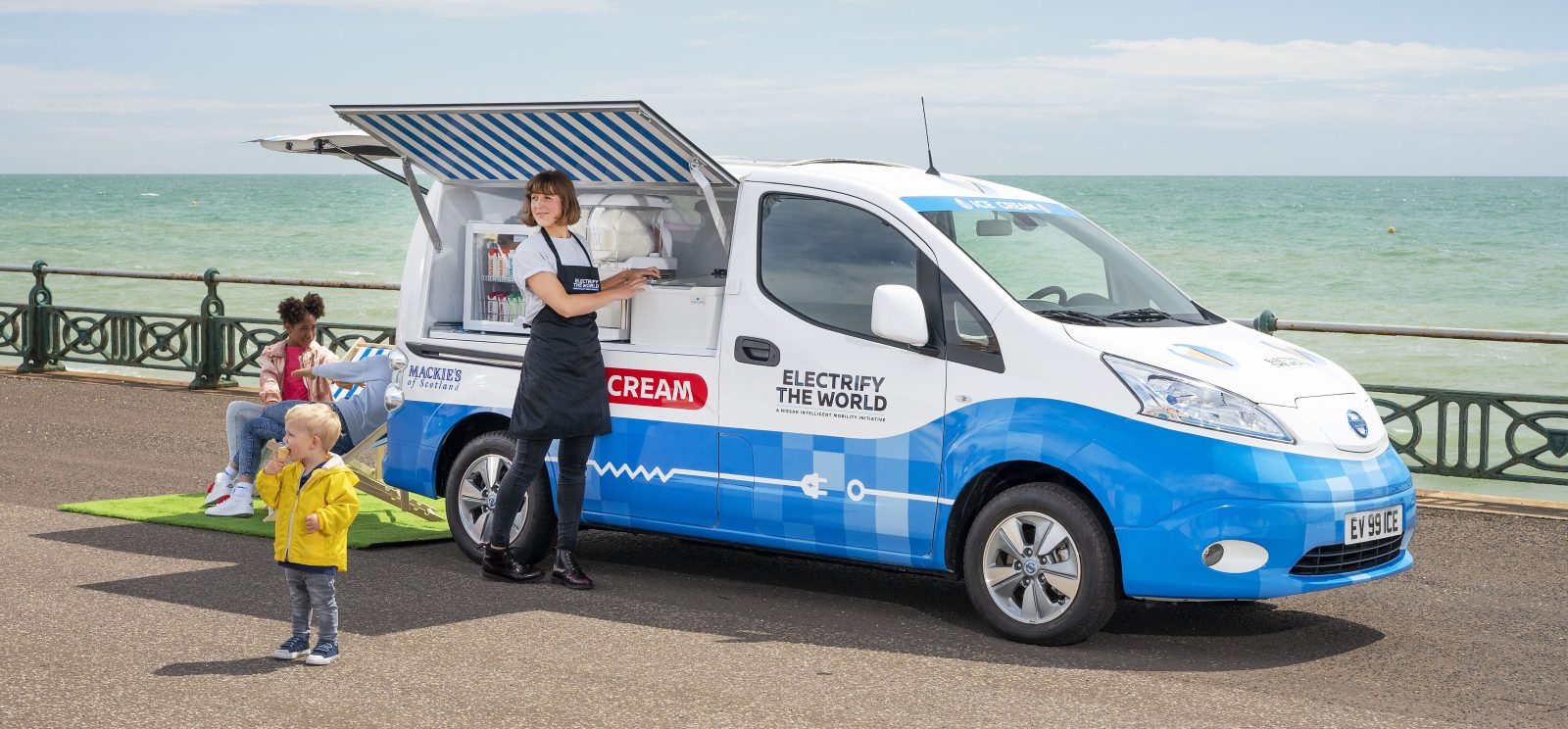 Nissan turns its electric van into a zero-emission ice cream truck