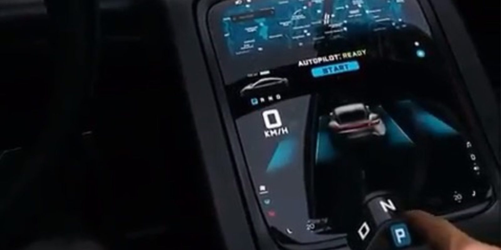 Porsche Taycan interior and user interface leaks with 'Autopilot' feature