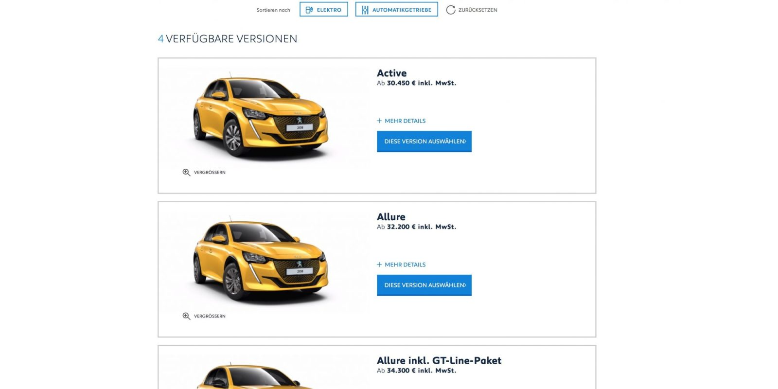 Peugeot e-208 configurator opens in Germany, €30,450 base price (plus €4k incentive)