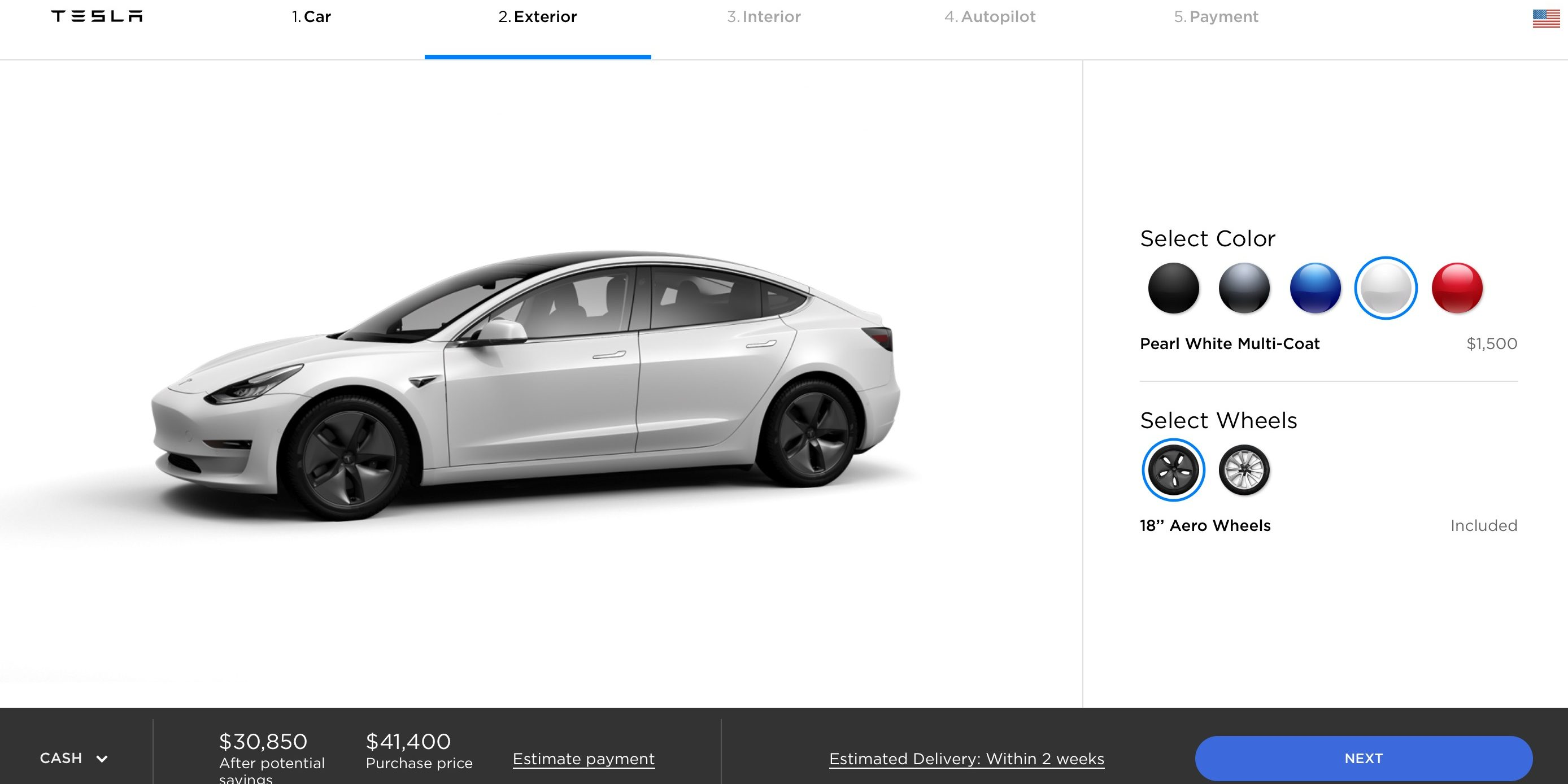 Tesla Changes Its Standard Paint Color From Black To White Electrek