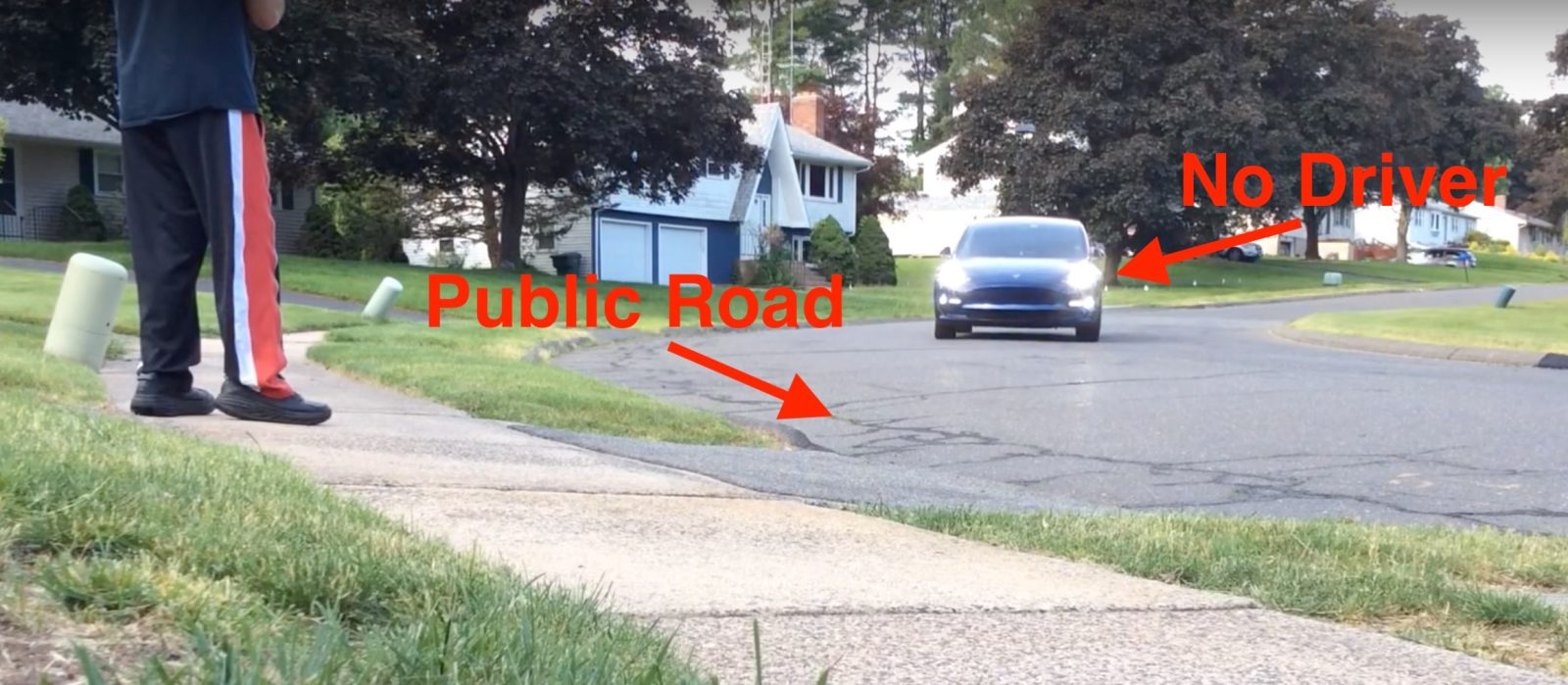 Watch Tesla owner 'summon' his Model 3 from down the road