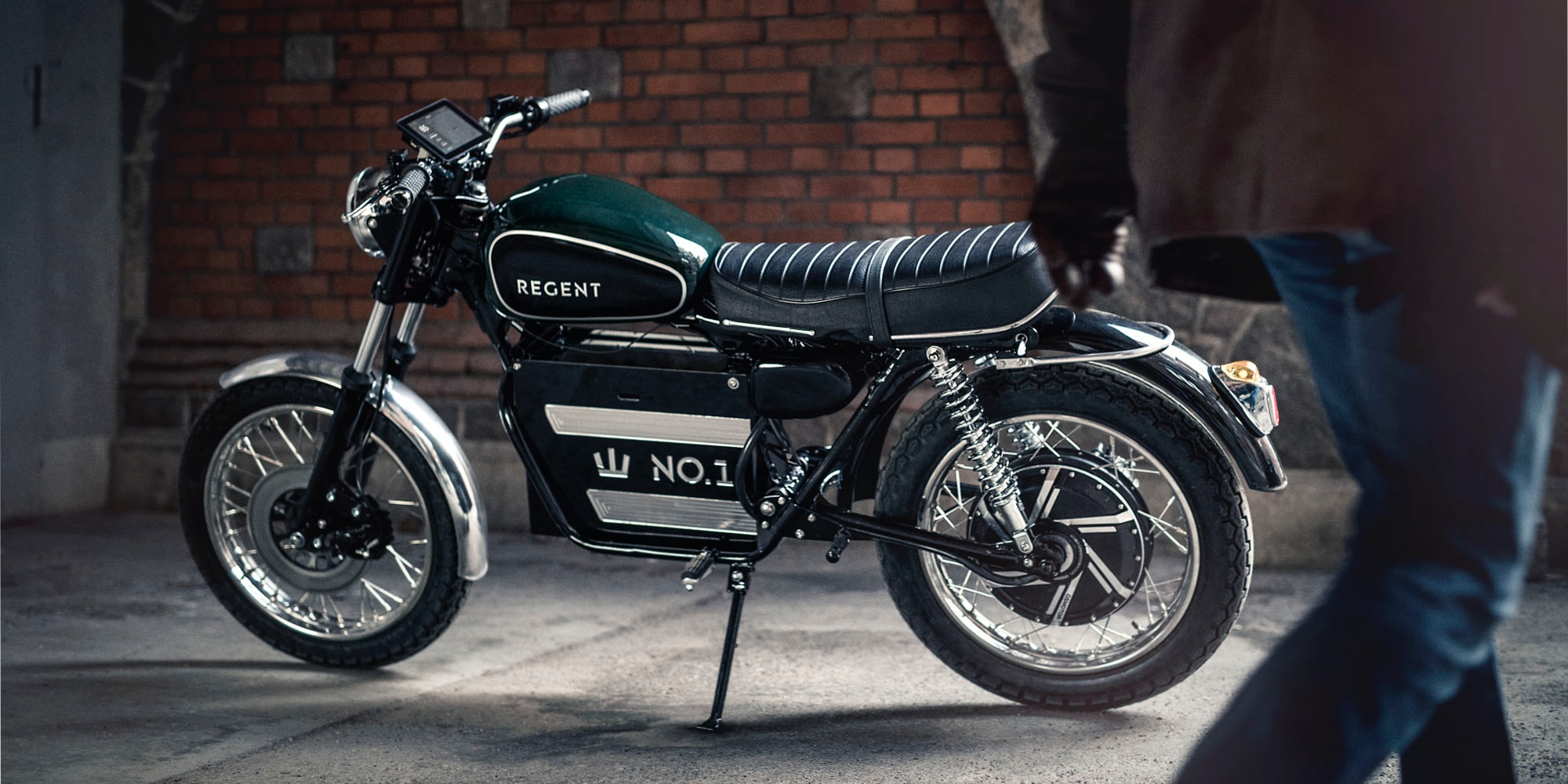 Beautifully Retro Regent No 1 Electric Motorcycle Heads