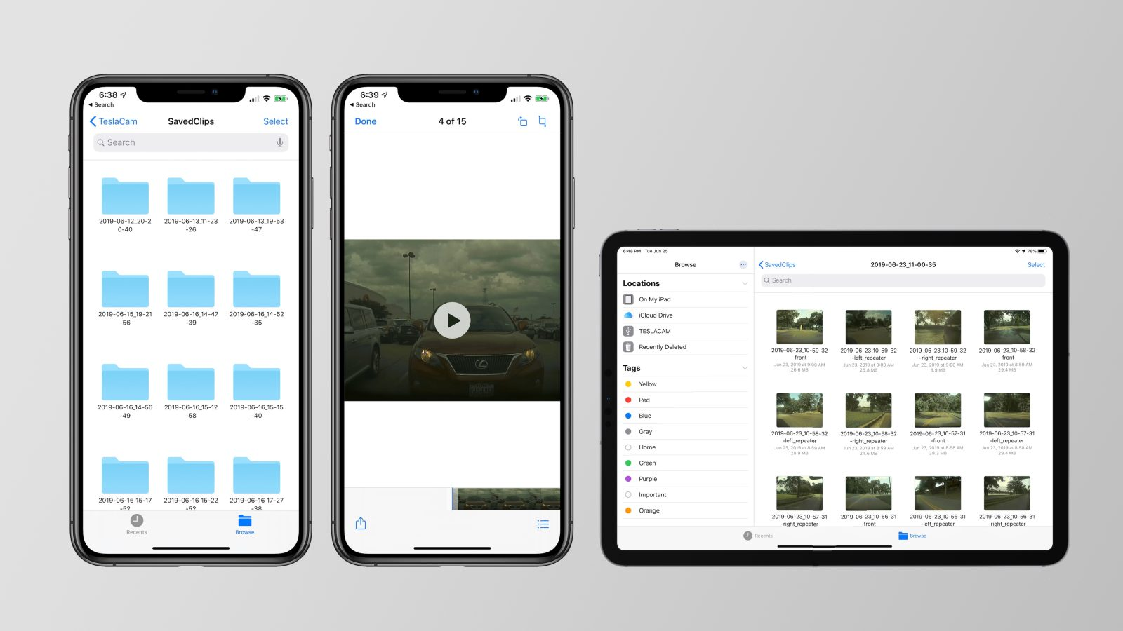 How iOS 13 makes it easier to view TeslaCam and Sentry Mode videos on iPhone and iPad