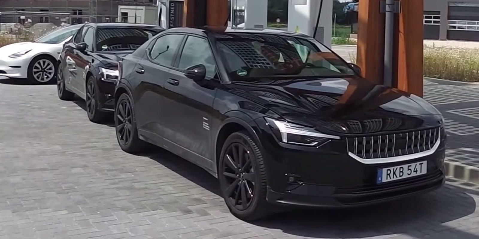 Porsche Taycan and Volvo Polestar 2 prototypes spotted up close